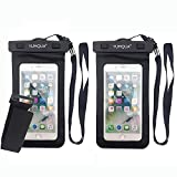 YUMQUA Universal Floating Waterproof Case with Armband, Waterproof Dry Bag Cell Phone Pouch