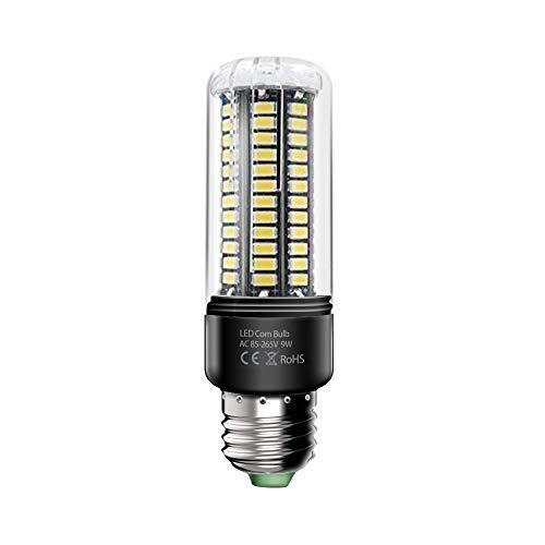Wetoph 9W LED Leuchte Nachtlicht Nachtlampe LED Maislampe TP15 E27 Mais Birne 6000K 80 Watt Glühbirnen AC85-265V - Kaltweiß -