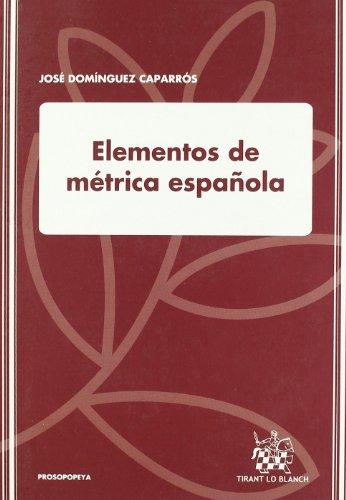 Elementos de métrica española por José Domínguez Caparrós