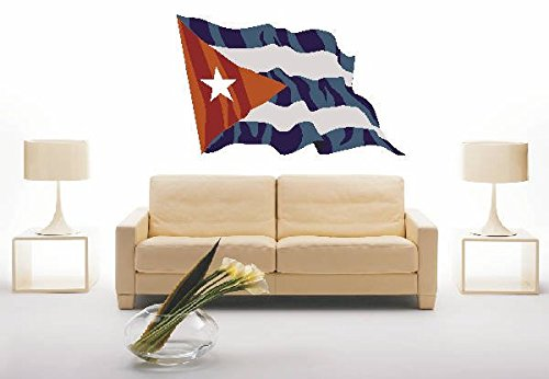 Preisvergleich Produktbild WANDTATTOO ls43 Cuba - Kuba 40 cm farbig / bunt als Fahne