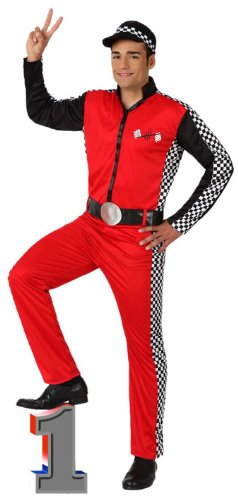 Atosa 8422259156277 - Verkleidung Rennfahrer, (Kostüm Rennfahrer Anzug)