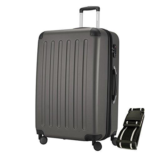 HAUPTSTADTKOFFER® Hartschalen Koffer SPREE 1203 · 128 Liter · MATT · TSA Zahlenschloss · + GEPÄCKGURT (Graphit)