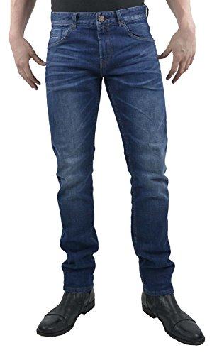 PME Legend Herren Jeans Nightflight Slim Fit Blue (82) 33/36 (Rise Low Five Shorts Pocket)