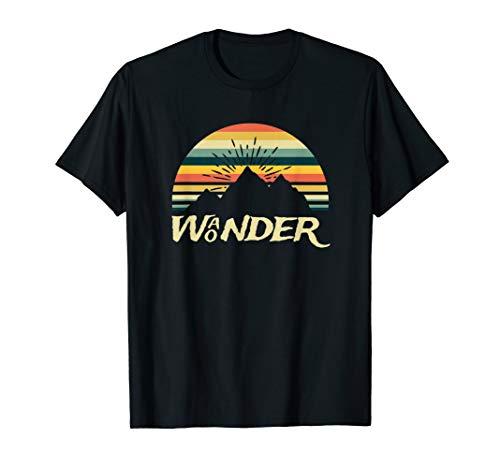 Wunder Wanderlust Wanderer Abenteuer Gebirge Ruhe Tourist T-Shirt