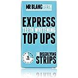Mr Blanc Teeth ™ Tiras de blanqueamiento de dientes express - suministro de 2 semanas - blanqueamiento profesional de dientes - seguro de esmalte - no peróxido