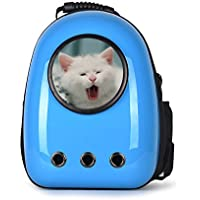 COSTWAY Haustier Rucksack Raumkapsel Hunde-Rucksack Transport-Rucksack Hunde-Tasche tragbar (Hell Blau)