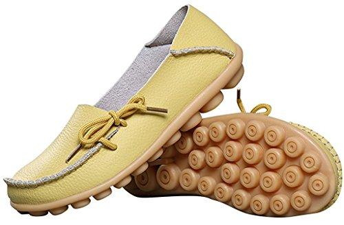 Fangsto  Loafer Flats, Basses femme Vert