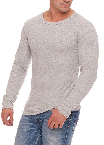 Skiunterwäsche für Herren Thermo Unterwäsche Set Hemd/Hose, 2 Lange Unterhosen oder 2 lange Unterhemden, angeraut anthrazit, grau, Grössen 5 bis 10 lieferbar 2 Hemden grau