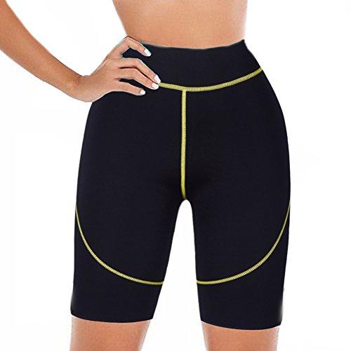 DODOING Hot Thermo Sweat Stretch Body Shaper Slimming Neopren Pants Sports Shorts für Damen und Herren -
