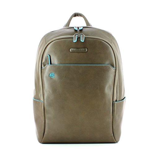 Piquadro Blue Square Sac à dos cuir 39 cm compartiment Laptop