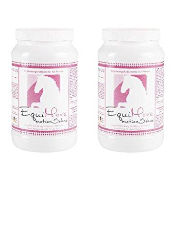 EquiMove Motion Sehne 2 Dosen mit je 1,5 kg – Das Sparpaket fŸr Pferde zur unterstŸtzenden FŸtterung bei Problemen der Sehnen. Mit MSM, Methionin, KrŠuterextrakten, Mineralien und Vitaminen