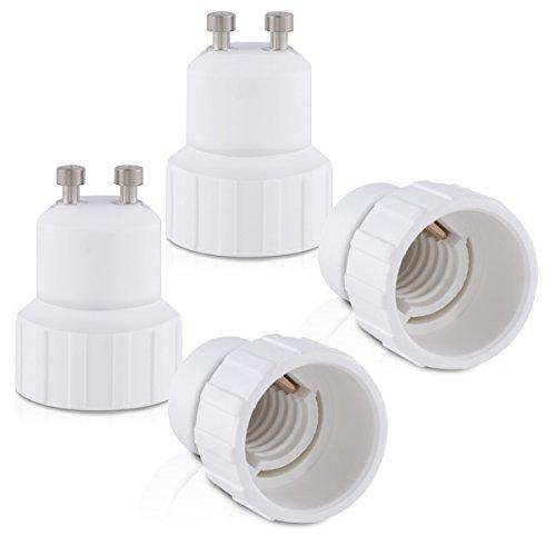 Led-energiespar-lampen (kwmobile 4x Lampenadapter Konverter GU10 Fassung auf E14 Lampensockel für LED-, Halogen-, Energiespar Lampen)