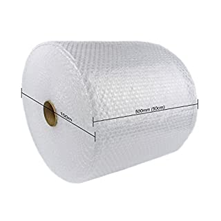 Schott Packaging SP500MM 500mm x 100m Roll of Quality Bubble Wrap - 100 metre Small Bubble roll | Strong and Great for House Moving and Removals | Fast & Free UK Delivery