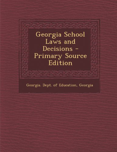 Georgia School Laws and Decisions
