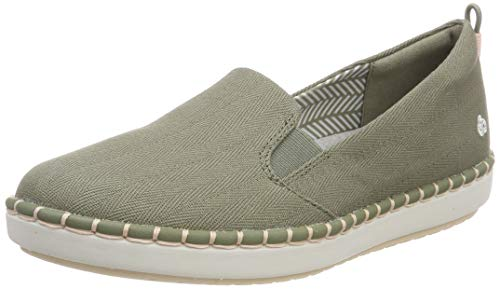 Clarks Damen Step Glow Slip Slip On Sneaker, Grün (Olive), 41.5 EU (Frauen Slip Schuhe Clarks Für)