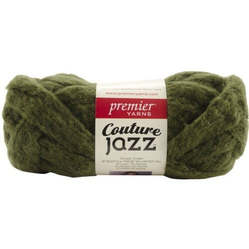 Premier Yarns Couture Jazz Yarn-Olive, Other, Multicoloured by Premier Yarns - Couture Olive