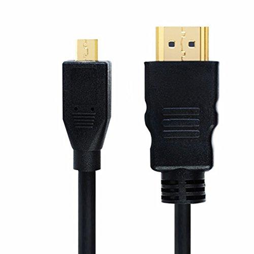 Wenquan,Micro HDMI zu HDMI Adapterkabel 1.5M(Color:SCHWARZ) -