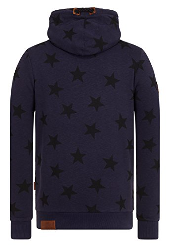 Naketano Male Hoody Blue Collar Mentality Dirty Dark Blue Melange
