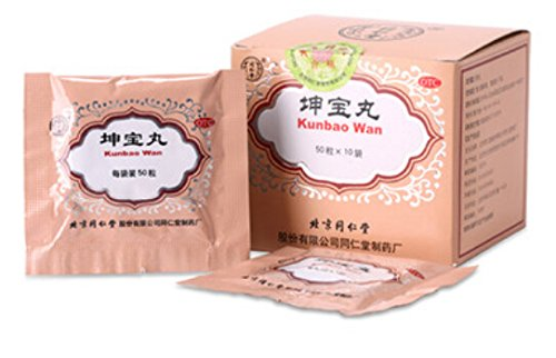 TongRenTang Kun Bao Wan(5g*10 Bags) Herbal for Wechseljahrs-Syndrom Pack of 3