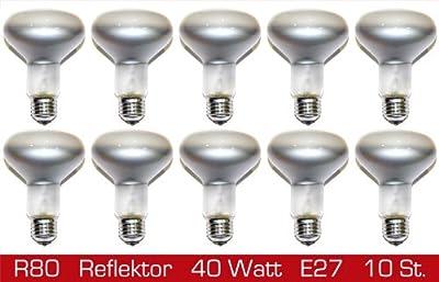 10 x Reflektor Glühbirne Spot R80 40W E27 Glühlampe 40 Watt Glühbirnen Glühlampen dimmbar von Stella bei Lampenhans.de