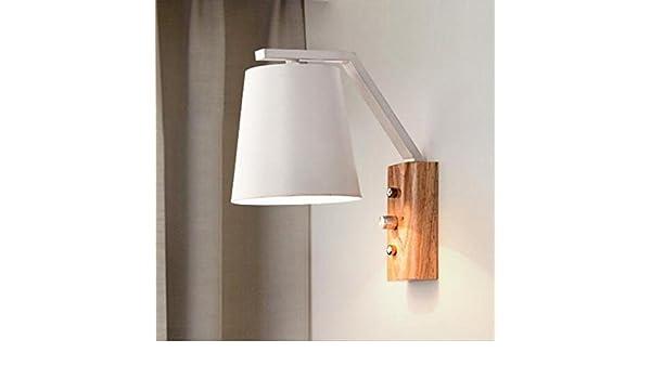 Fei applique da parete in legno nordico lampada da lettura lampade