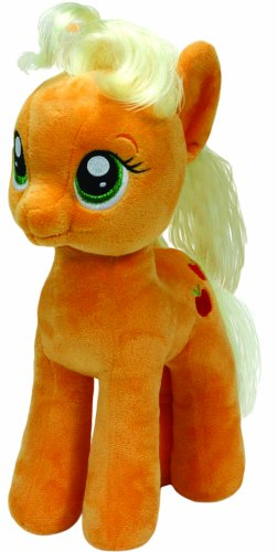 TY 41076 - My Little Pony - Schmusetier Apple Jack, groß, 24 cm (Gestickt Apple)