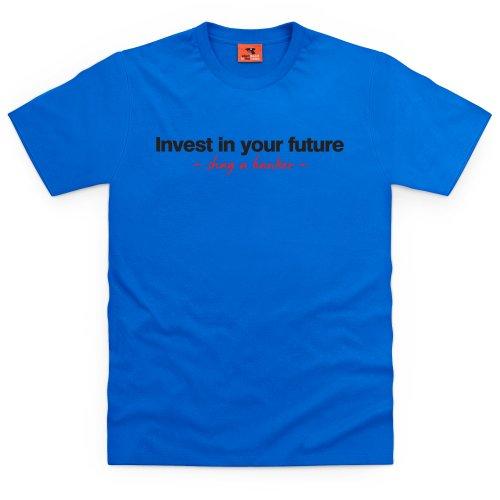 Square Mile Invest T-Shirt, Herren Royalblau