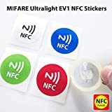 #7: NFC House MIFARE Ultralight EV1 NFC Tag Stickers with NFC Logo Printed | Genuine NXP MIFARE Ultralight EV1 Chip - 30mm Size | Set of 5 Pcs.