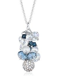 Elli Damen-Kette mit Anhänger 925 Sterling Silber Swarovski Kristall blau Perlenschliff 0101661413_70