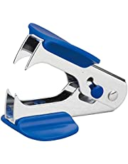 Vorra Fashion Mini Staplers Combo, Including Stapler Remover and 2 Strips, Assorted Color (Blue)