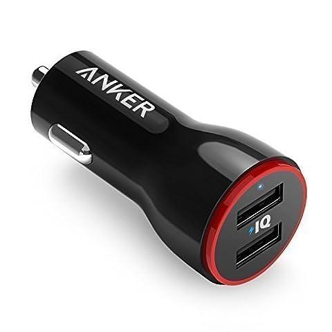 Anker PowerDrive 2 Auto Noir chargeur de téléphones portables - chargeurs de téléphones portables (Auto, Smartphone, Tablette, Allume-cigare, Noir, DC 12/24V, 5
