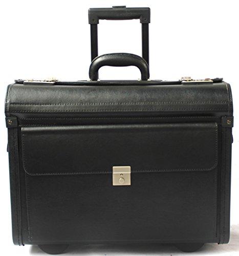 Pilotenkoffer mit Rollen - Laptop-Trolley aus Vinyl - Handgepäckgröße