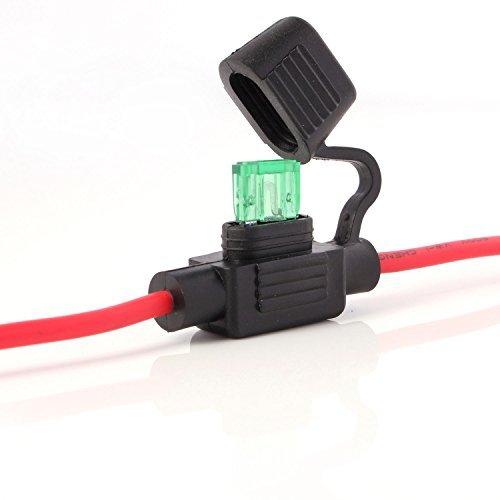 Neuftech Portafusible impermeable Fuse holder para camion o coche, incluyendo 30A fusible - 26cm