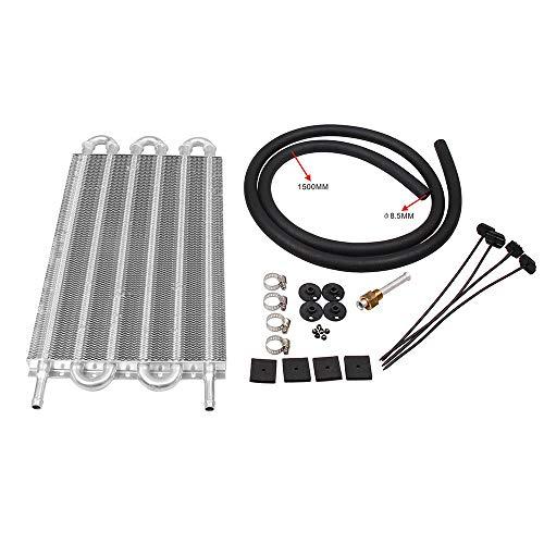 KKmoon Radiatore dell'olio della Trasmissione, Corredo del Condensatore a Distanza di Alluminio, Convertitore del Radiatore Auto-Manuale Univers