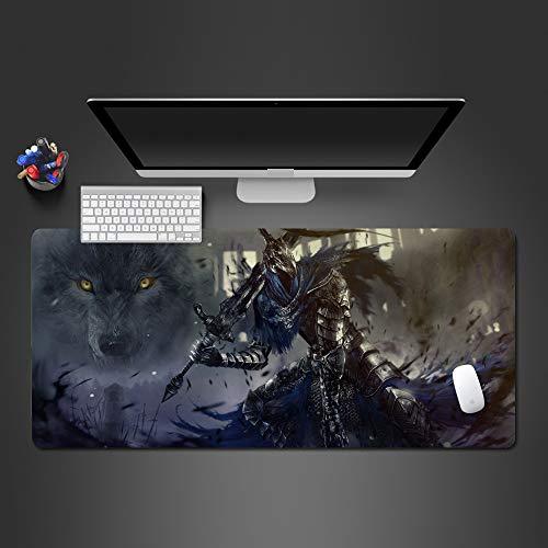 Weißer und schwarzer Wolf Mauspad hochwertige Auflage Computer Büro Tastatur ultradünne Tischmauspad Mauspad 2 700x300x2 (Hello Kitty-tische Und Stühle)