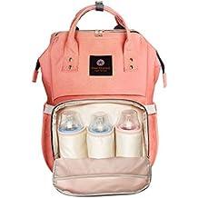 Bolso de Pañales impermeables Multiusos Mochila para Pañales para Cuidado de Bebé, Alta Capacidad, Estilizado y Durable