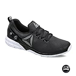 Reebok Mens Zpump Fusion 2.5 FL Black and White Running Shoes - 7 UK/India (40.5 EU)(8 US)