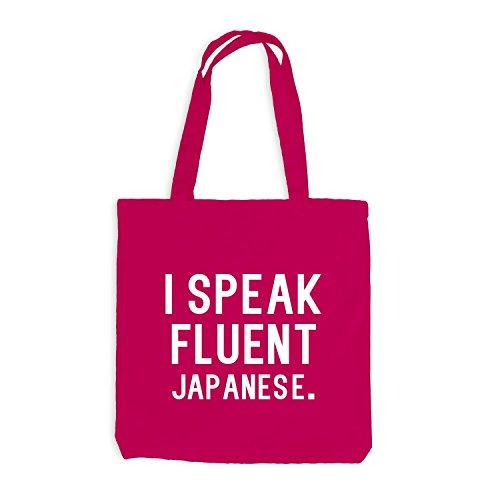 Jutebeutel - I speak fluent Japanese - Sprache Japanisch Pink