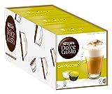 NESCAFÉ Dolce Gusto Cappuccino | Kaffeekapseln | Arabica und Robusta Bohnen | Vollmundiger Kaffee und lockerer Milchschaum | Aromaversiegelte Kapseln | 3er Pack (48 Kapseln)
