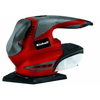 Einhell RT-XS 28 Multi – Lijadora (Lijadora manual, Multilijadora, Negro, Rojo, Bolsa para el polvo, Velcro, 10000 RPM)