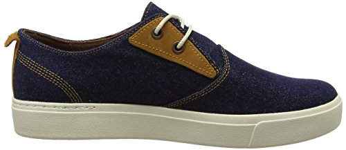 Timberland Herren Amherst Ptodark Denim Canvas Oxford Schnürhalbschuhe blau (Dark Denim Canvas)