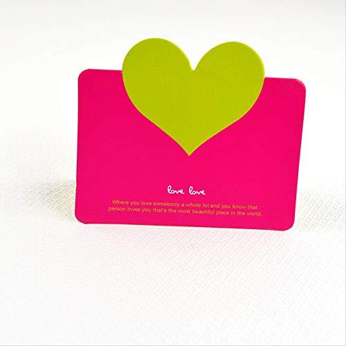 ZMDA Grußkarte Gefaltete Liebesherz-Gruß-Karte Hochzeits-Liebes-Karten-Faltende Wunsch-Karten-Festival-Allgemeine Karte