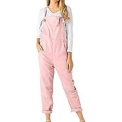 Petite Salopette en Jean,Overdose Hiver Soldes Femme Jeans Combinaison Slim Pantalon Taille Haute Denim Noir Délavé Trousers