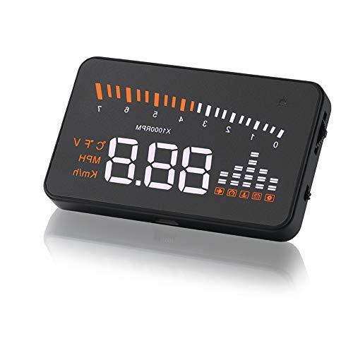 3 pollici OBD2 HUD Display Auto Temperatura dell'acqua Tachimetro Velocità con orologio di avvertimento/velocità eccessiva