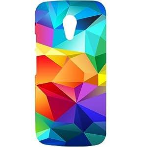Casotec Colourfull Pattern Design Hard Back Case Cover for Motorola Moto G 2nd Generation