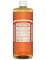 Dr. Bronner's Magic Soaps, 18-1 Arbre à thé de chanvre, Savon de Castille pur , 32 fl oz (944 ml)