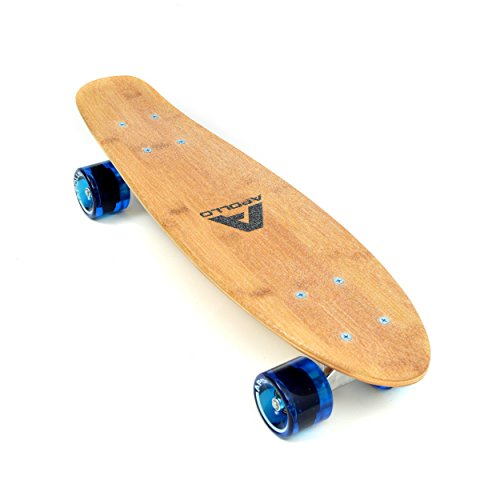 Apollo Fancy Board, Vintage Mini Cruiser, Komplettboard, 22.5inch (57,15 cm), Mini-Board mit Holz oder Kunstsoff Deck -