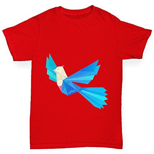 TWISTED ENVY Boy's Colourful Origami Bird T-Shirt