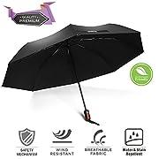 Non è solo un ombrello, ma il miglior compagno di viaggio. L'ombrello anti vento BravRain può proteggere da forti raffiche di vento, anche a 95 km/h, o forti piogge grazie alle stanghette elastiche rinforzate in fibra di vetro e il suo tessut...