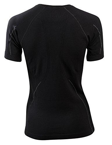 SleepShirt AVIOR - La camicia per dormire traspirante per donne (manica corta) Nero